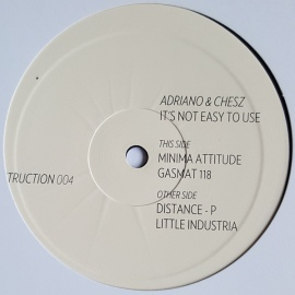Adriano & Chesz ‎– It's Not Easy To Use EP [12